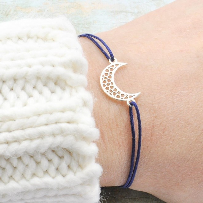 Moon And Star Silver Bracelet