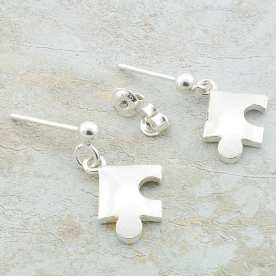 Puzzle Pieces Dangle Earrings