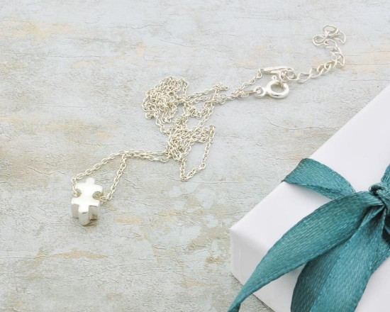 Silver Puzzle Necklace daughter Matching mother