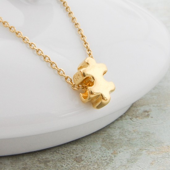 Gold Plated Puzzle Necklace daughter Matching mother