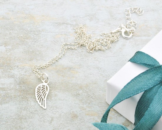 Little Angel Wing Necklace Baby Memorial Necklace